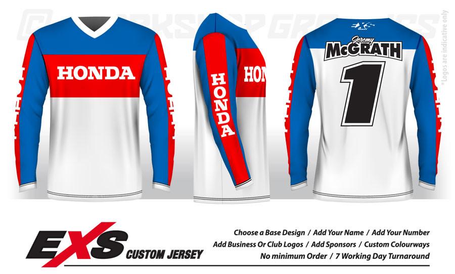 Custom Sublimated Vintage Race Jerseys