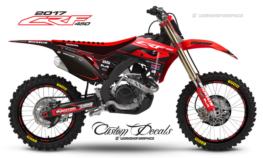 2017 Honda CRF450 Custom Graphics Kit