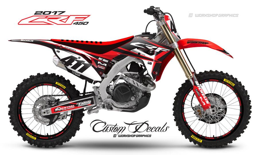 2017 Honda CRF450 Custom Graphics Kit