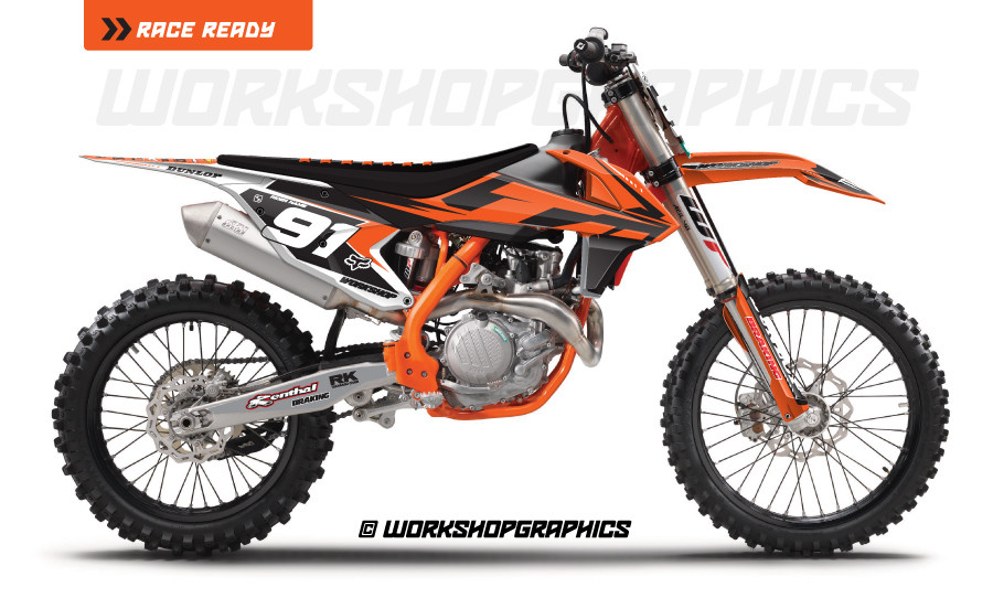 KTM Graphics Decals for Makes and Models