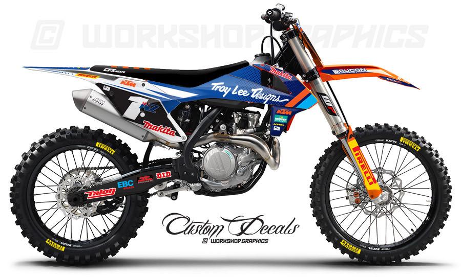 KTM Custom Graphics Kits & Race Numbers