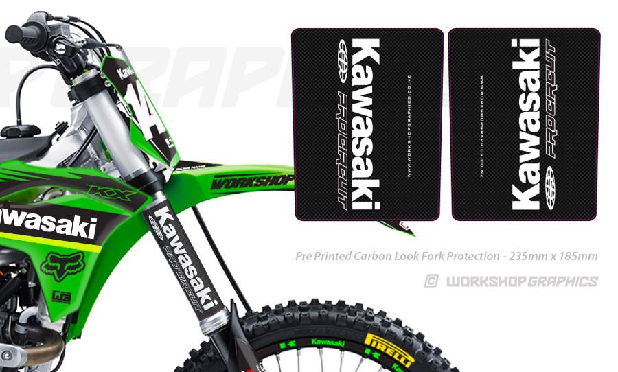 Fork Wrap Carbon - Kawasaki PC
