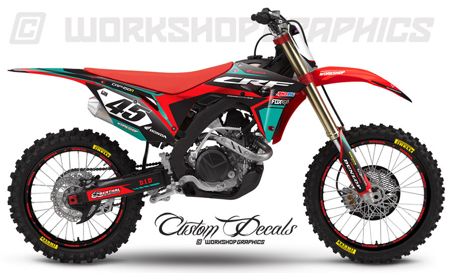 CRF450  Aftershock Green- Graphics