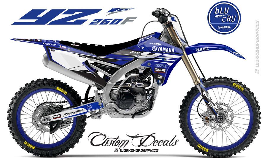 2018 YZ250F BluCru MX Graphics kit