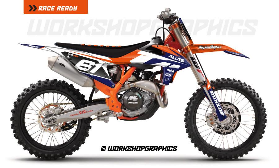 Strike White KTM - Graphics Kit