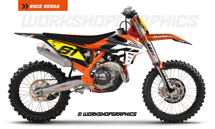 Strike Black KTM - Graphics Kit
