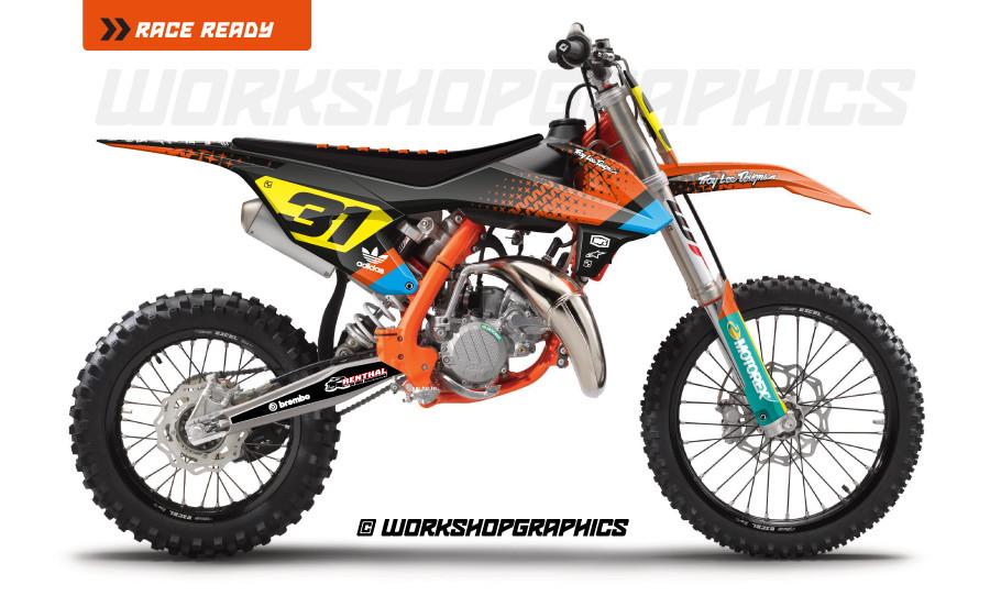 ktm sx85 graphics kit ass