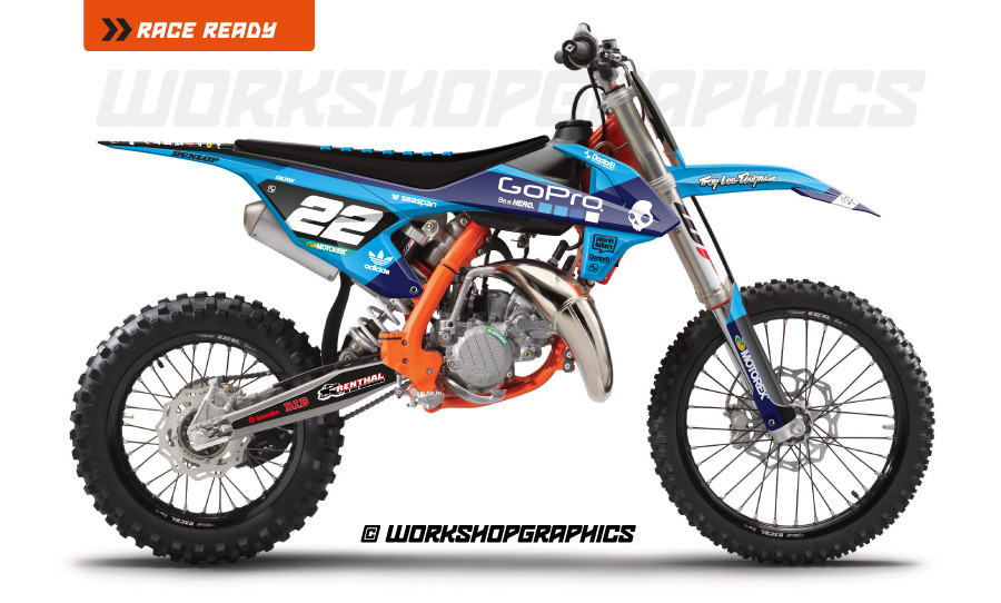 KTM 85 Washougal V1 - Graphics Kit