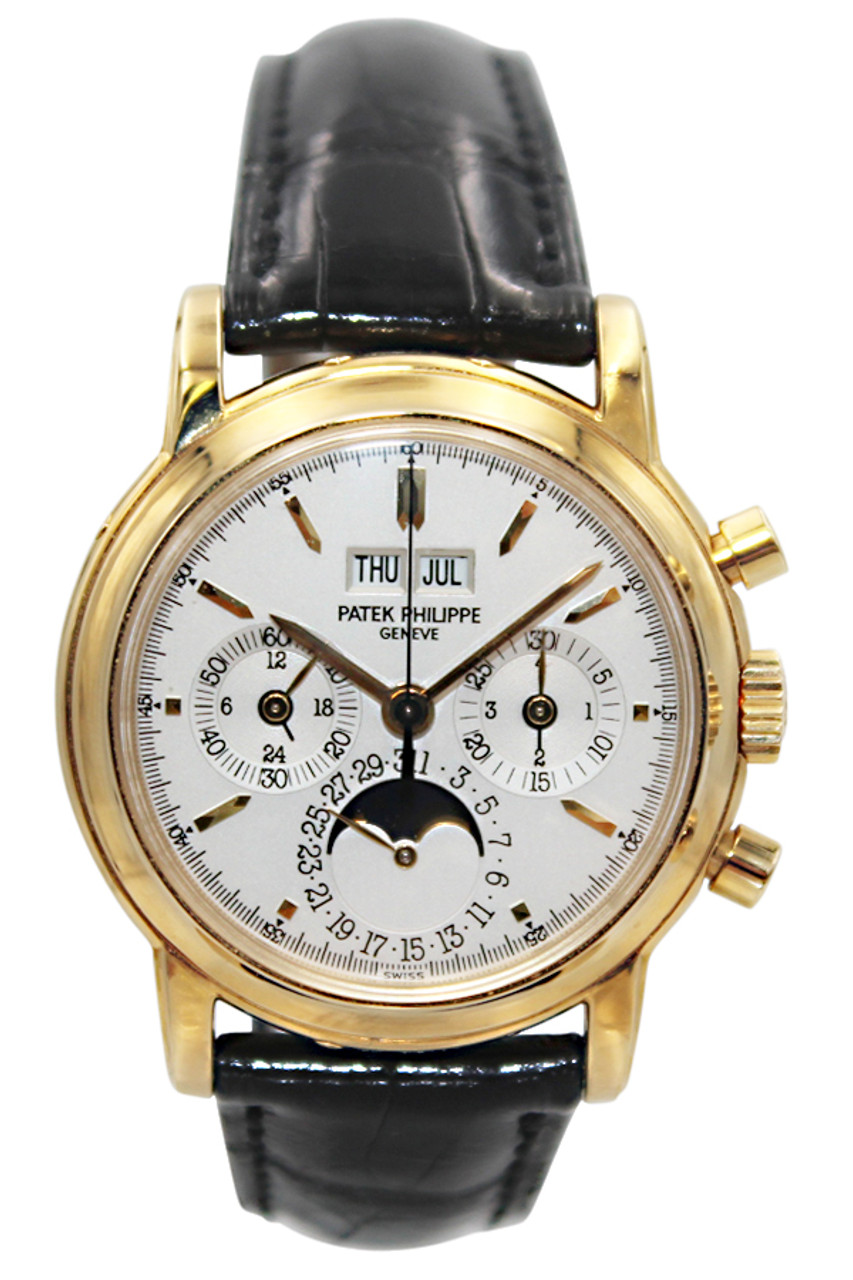 01d4dcf74ff Patek Philippe - Grand Complication - 37mm - 18k YG - Moon Phase -  Perpetual Calendar - Chronograph - White Stick Dial - Manual Wind - Ref.  3970