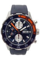 IWC Aquatimer - 44mm - Stainless Steel - Chronograph - Blue Dial - Blue and Orange Bezel - Rubber Strap