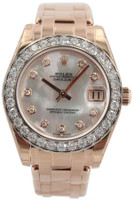 Rolex Masterpiece Oyster Perpetual Datejust Pearlmaster - Special Edition - 34mm Everose Gold - Mother of Pearl Diamond Dial - Diamond Bezel - Ref. 81285