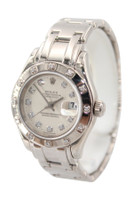 Rolex Masterpiece Oyster Perpetual Lady-Datejust Pearlmaster - 29mm - White Gold - 12 Diamond Bezel - Silver Diamond Dial - ref. 80319