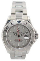 Rolex Oyster Perpetual Yacht-Master - 40mm - Stainless Steel - Platinum Bezel - Platinum Dial - Oyster Bracelet - Ref. 16622