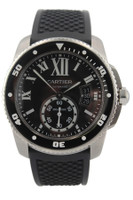 Cartier Calibre de Cartier Diver - 42mm - Stainless Steel - Black Roman Dial - Black Ceramic Bezel - Automatic - Black Rubber Strap - Ref. W7100056