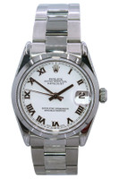 Rolex Oyster Perpetual Datejust - 31mm - Stainless Steel - Smooth Bezel - White Roman Dial - Oyster Bracelet - Ref. 78240