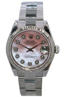 Rolex Oyster Perpetual Datejust - 31mm - Stainless Steel - Fluted Bezel - Pink MOP Diamond Dial - Oyster Bracelet - Ref. 178240
