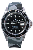 Rolex Oyster Perpetual Submariner Date - 40mm - Stainless Steel - Black Bezel - Black Dial - Oyster Band - Rubber Strap - Ref. 16610