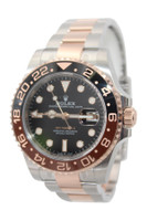 """Rolex Oyster Perpetual GMT-Master II - 40mm - Stainless Steel and Rose Gold - """"Rootbeer"""" Ceramic Bezel - Black Dial - Ref. 126711"""