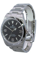 Rolex Oyster Perpetual Explorer - 39mm - Stainless Steel - Black Arabic Dial - Smooth Bezel - Ref. 214270