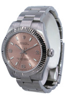 Rolex Oyster Perpetual - 31mm - Stainless Steel -  Fluted Bezel - Pink Dial - Oyster Bracelet - Ref. 177234