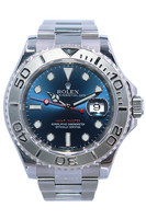 Rolex Oyster Perpetual Yacht-Master - 40mm - Stainless Steel - Platinum Bezel - Blue Dial - Oyster Bracelet - Ref. 116622