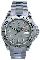 Rolex Oyster Perpetual Yacht-Master - 40mm - Stainless Steel - Platinum Dial - Platinum Bezel - Oyster Bracelet - Ref. 16622