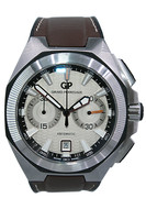 GIRARD-PERREGAUX - Chrono Hawk - 44mm - Stainless Steel - Smooth Bezel - Ivory Dial - Automatic - Strap - Ref. 49970 -11-131-HDBA