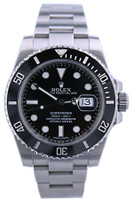 Rolex Oyster Perpetual Submariner - 40mm - Stainless Steel - Unidirectional Rotatable Ceramic Black Bezel - Black Dial - Oyster Bracelet - Ref. 116610LN