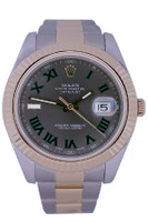 Rolex Oyster Perpetual Datejust II - 41mm - Stainless Steel - 18k Yellow Gold Fluted Bezel - Green Roman Slate Dial - Two-Tone Oyster Bracelet - Ref. 116633