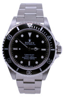 Rolex Oyster Perpetual Submariner No Date - 40mm - Stainless Steel - Unidirectional Rotatable Bezel With Black Insert - Black Dial - Oyster Bracelet - Ref. 114060