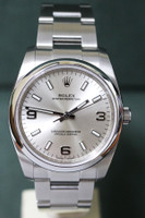 Rolex Oyster Perpetual No Date - 34mm - Stainless Steel - Smooth Bezel - Silver Index Dial - Oyster Bracelet - Ref. 114200