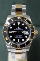 Rolex Oyster Perpetual Ceramic Submariner - 40mm - Two-Tone - Yellow Gold Unidirectional Rotatable Bezel - Black Dial - Two-Tone Stainless Steel And Yellow Gold Oyster Bracelet - Ref. 116613