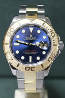 Rolex Oyster Perpetual Yacht-Master - 40mm - Two-Tone - Yellow Gold Bezel - Blue Dial - Two-Tone Stainless Steel And Yellow Gold Oyster Bracelet - Ref. 16623