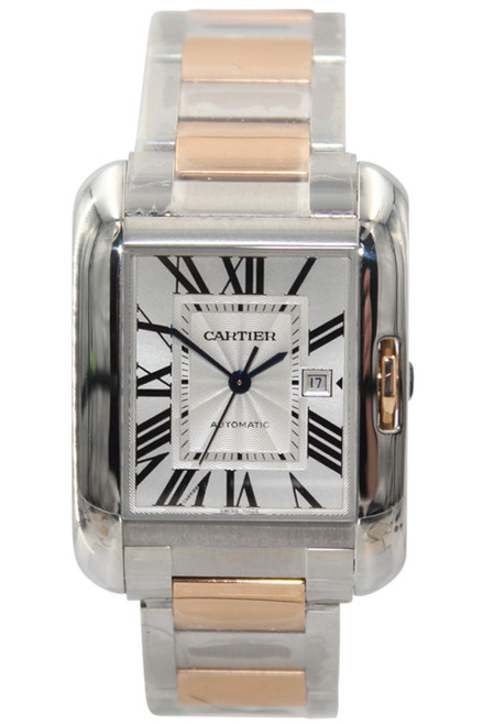 Cartier 18K Rose Gold and Stainless Steel Tank Anglaise Unisex Watch - Ref. W5310007