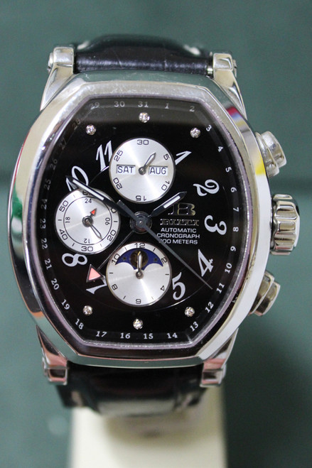 Buti Fausto TB - Chronograph GMT Diamond - Black Dial Automatic