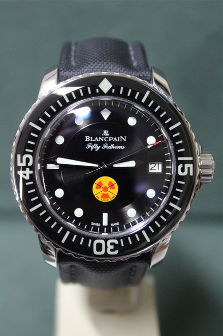 "Blancpain SS Tribute To Fifty Fathoms - Black ""Radiation"" Dial and Black Strap - Ref. 5015B 1130 52"