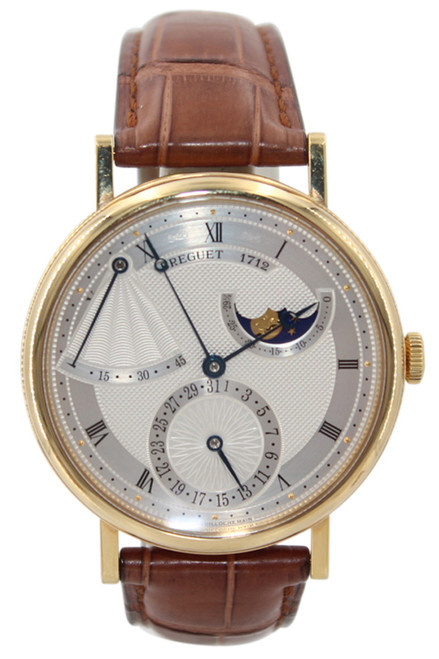 Breguet Classique Power Reserve - Men's 18K Yellow Gold - Silver Guilloche Dial - Ref. 7137