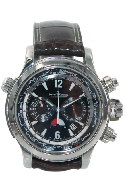 Jaeger LeCoultre Stainless Steel Master Compressor Extreme World Chronograph - Black Dial - Ref. 150.8.22