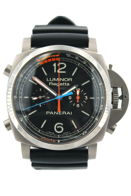 Panerai SS Luminor 1950 3 Day Chrono Flyback Regatta - Black Dial - Ref. PAM 526