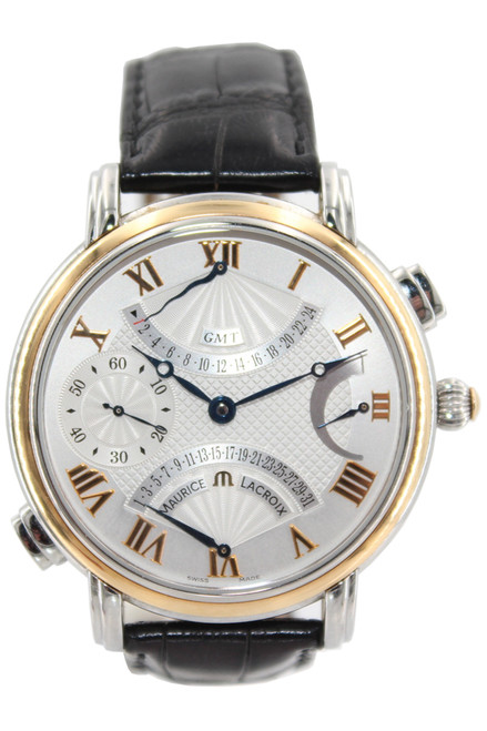 Maurice Lacroix Two Tone  Masterpiece - 43mm - Double Retrograde Manual-wind - Ref.  MP7018PS101110