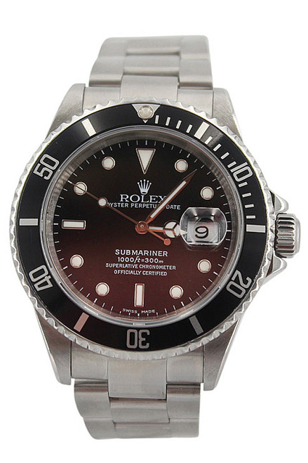 Rolex Oyster Perpetual Submariner Date-40mm-Stainless Steel-Black Dial-Black Bezel-Ref. 16610