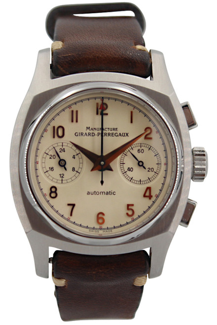 "Girard Perregaux ""Vintage 1960"" - Chronograph - 38mm - Stainless Steel - Ivory Dial"