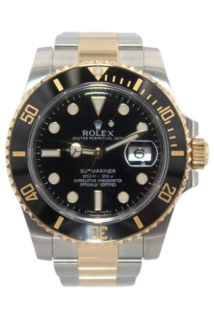 Rolex Oyster Perpetual Submariner Date - 40mm - Two Tone - Black Dial - Black Ceramic Bezel - Ref. 116613