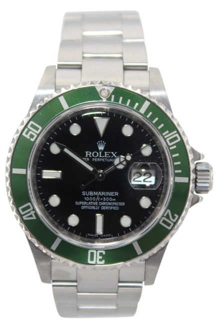 Rolex Oyster Perpetual Submariner Date - 40mm - Stainless Steel - Black Dial - Green Bezel - Ref. 16610