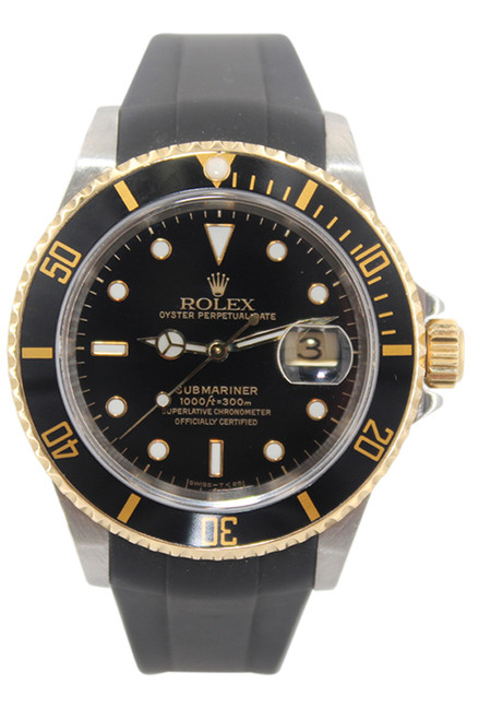 Rolex Oyster Perpetual Submariner Date - 40mm - Two Tone - Black Dial - Black Bezel -Ref. 16613