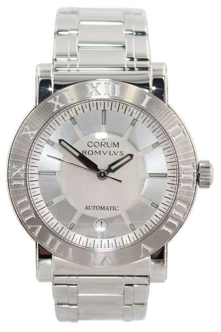 Corum - Romulus - 40mm Stainless Steel - Silver Dial - Stainless Steel Bracelet - Automatic -
