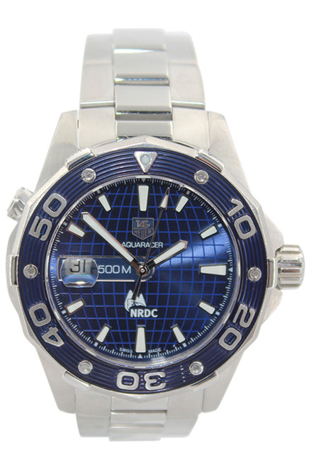 Tag Heuer - Aquaracer - 41mm - Stainless Steel - Blue Stick Dial - Blue Bezel - Automatic - Ref. WAJ2115