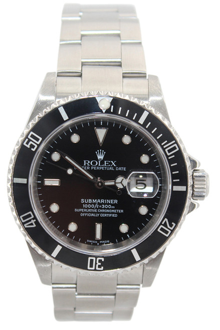 Rolex Oyster Perpetual Submariner Date - 40mm - Stainless Steel - Black Dial - Black Bezel - Ref. 16610 (Item#13371)