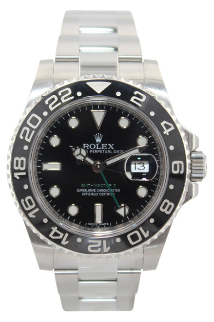 Rolex Oyster Perpetual Date GMT-Master II - 40mm - Stainless Steel - Black Dial - Black Ceramic Bezel - Reef. 116710