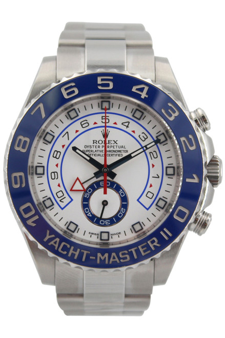 Rolex Oyster Perpetual Yacht-Master II - 44mm - Stainless Steel - Blue Ceramic Bezel - White Dial - Ref. 116680
